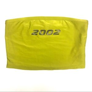 2002 lime green bandeau crop top tube top